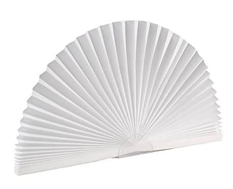 Original Arch Light Filtering Pleated Paper Shade White