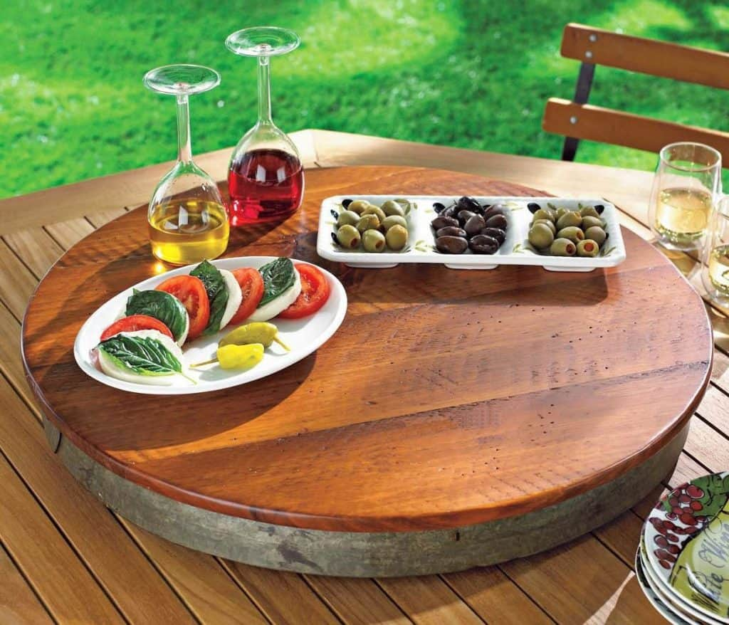 Orvis Wine Barrel Lazy Susan