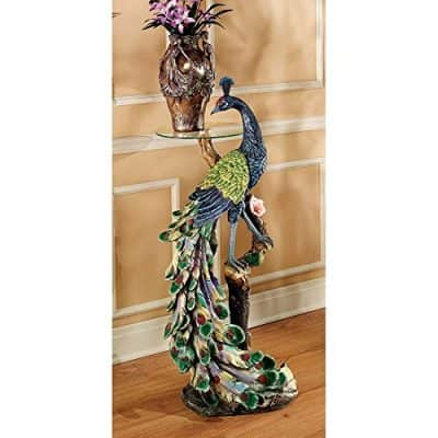 Park Avenue Collection Peacocks Perch Pedestal Table