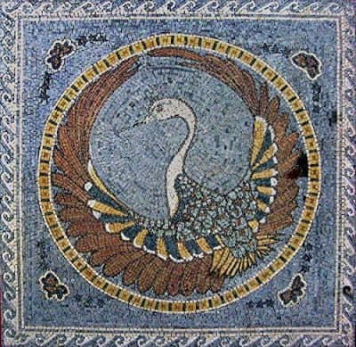 Peacock marble mosaic