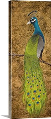 Peacocks I Gallery-Wrapped Canvas