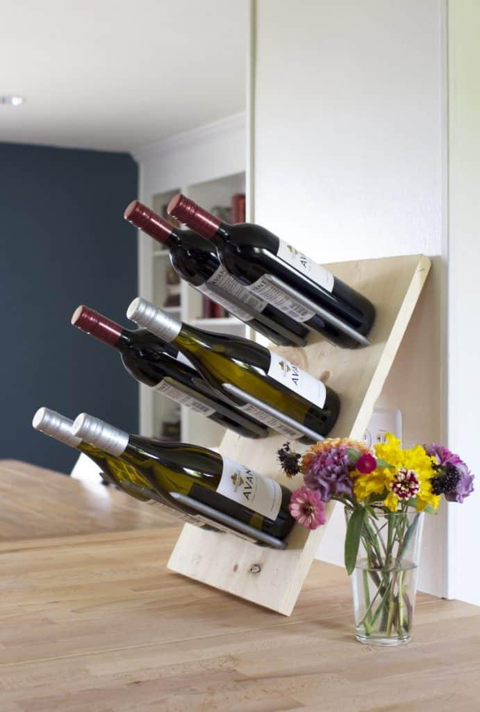 Peg Board style wine rack