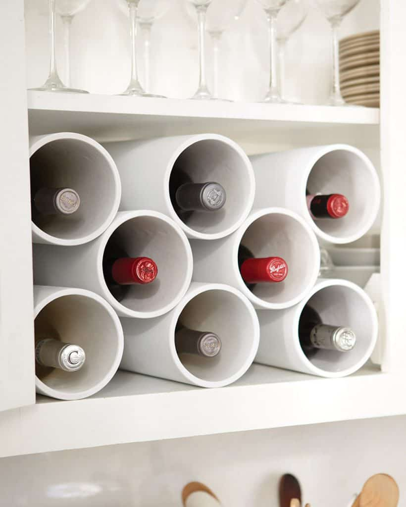 Pipe Wine Rack