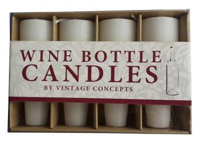PlaceTile Designs Wine Bottle Candles, White
