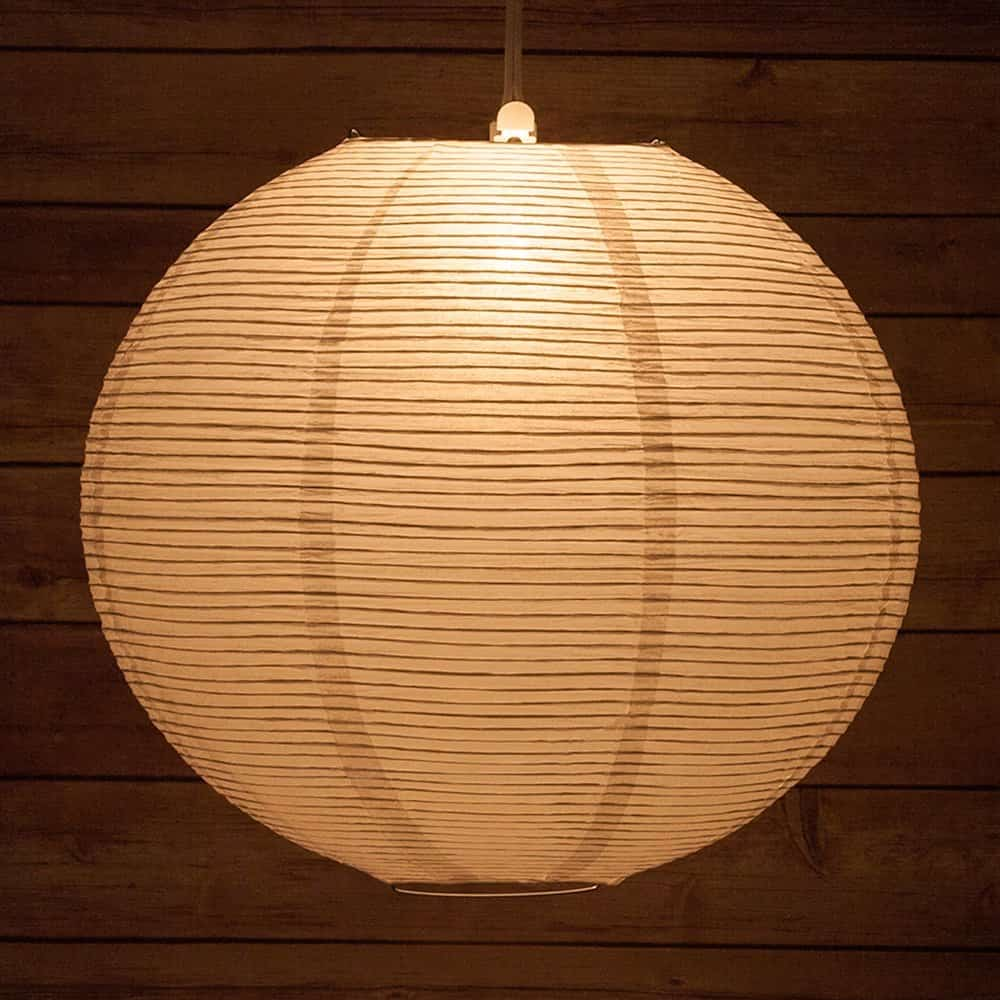 All about paper lamp shades ideas where to buy decor snob quasimoon 14flp wh 14 white fine line even ribbing paper lantern 14 inch aloadofball Images