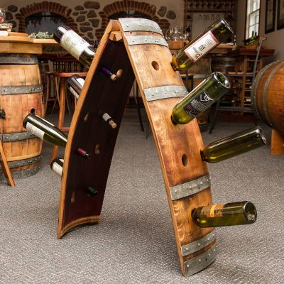 Reclaimed Wine Barrel Riddling Rack