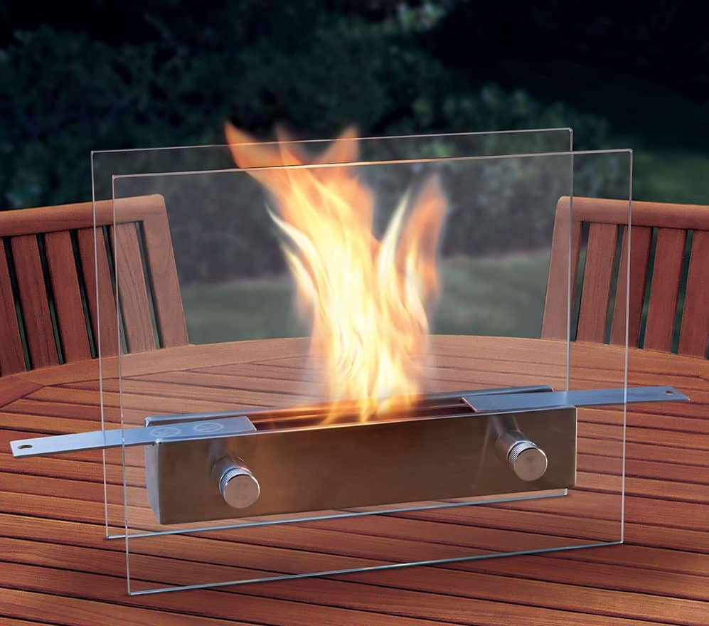 Regal Flame Lyon Fire Pit Tabletop Portable Bio Ethanol Fireplace