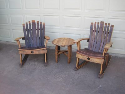 Rocking Chair , Wine Barrel Chair