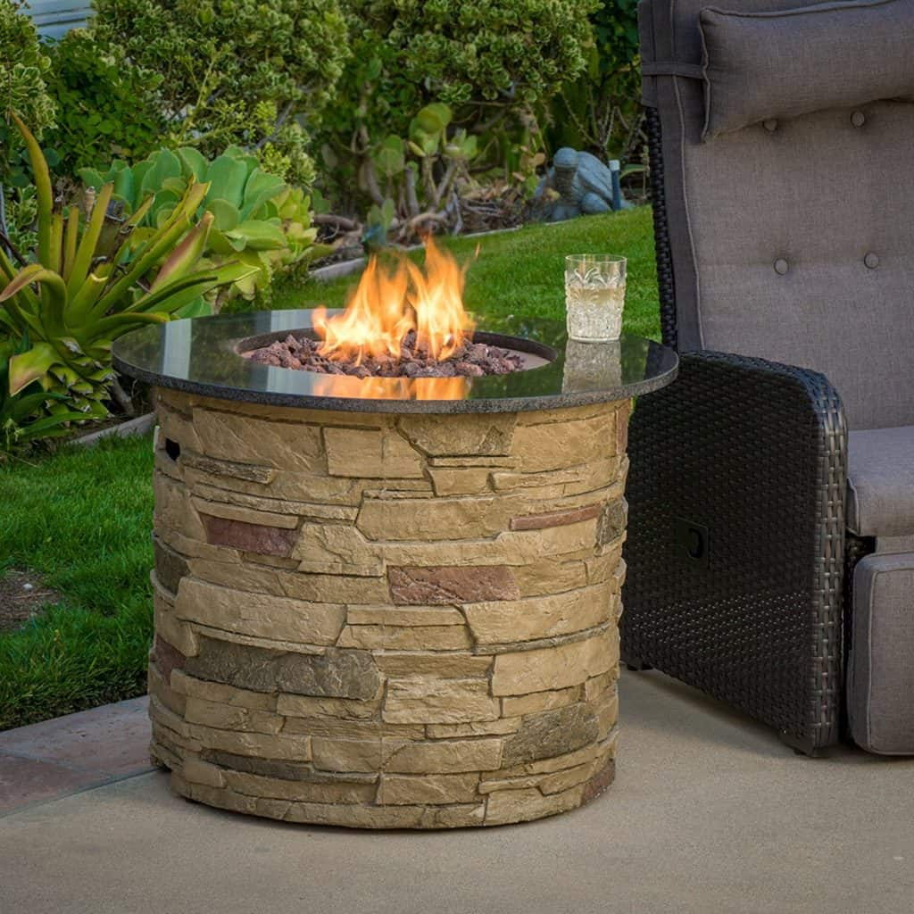 Rogers Outdoor Round 40,000 BTU Liquid Propane (Gas) Fire Table Pit
