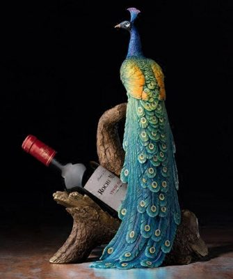 Royal Peacock wine holder