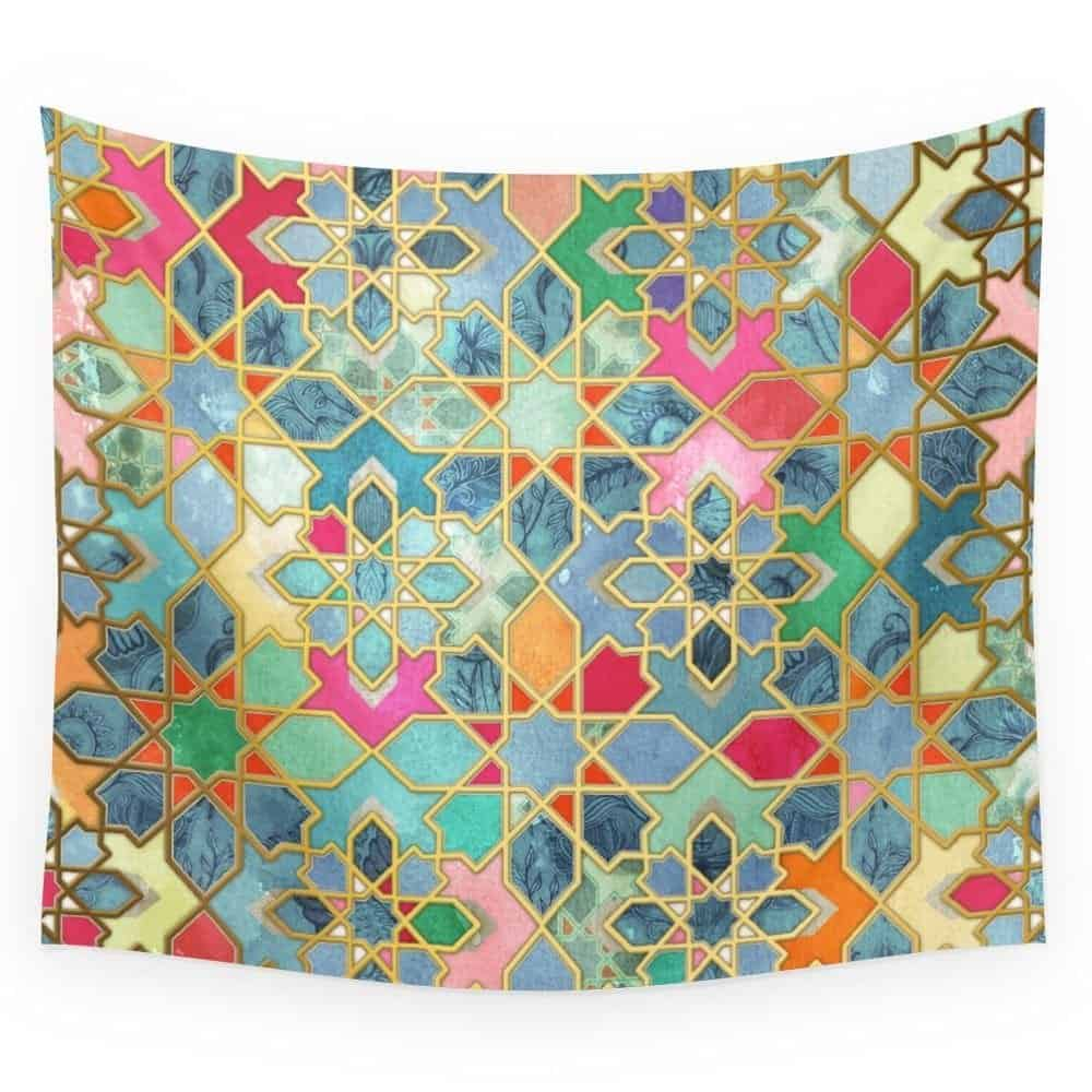 Society6 Gilt & Glory - Colorful Moroccan Mosaic Wall Tapestry Large