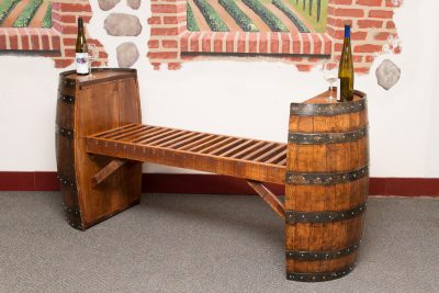 Sonoma Wine Barrel Bench