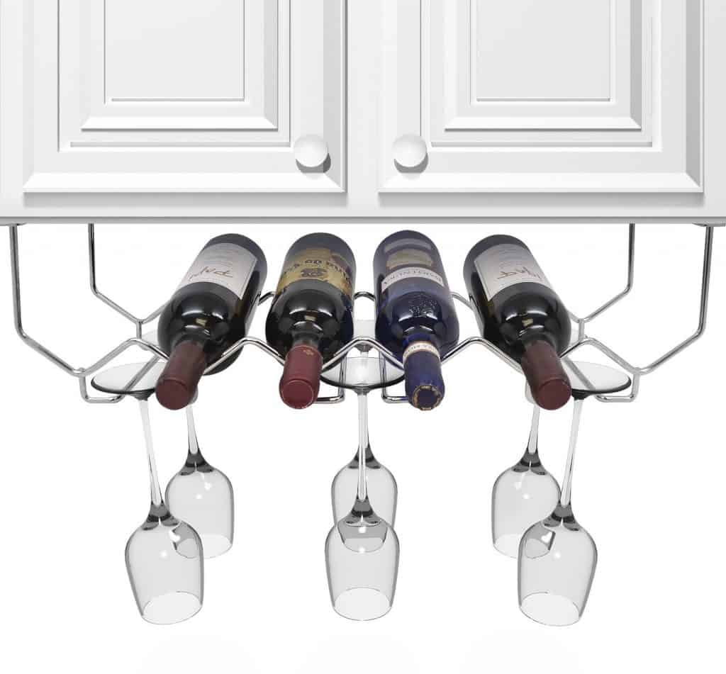 Sorbus® Wine Rack and Glassware Under Cabinet Holder