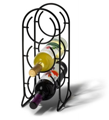 Spectrum Diversified 38610 Horseshoe Wine Rack, 3 Bottle, Black