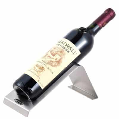 Stainless Steel Tabletop Single Bottle Wine Rack