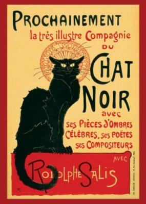 Steinlein-Le Chat Noir, Art Poster Print