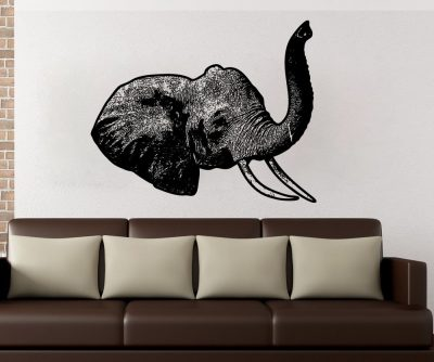 Stickerbrand Vinyl Wall Decal Sticker Elephant Head 5479s