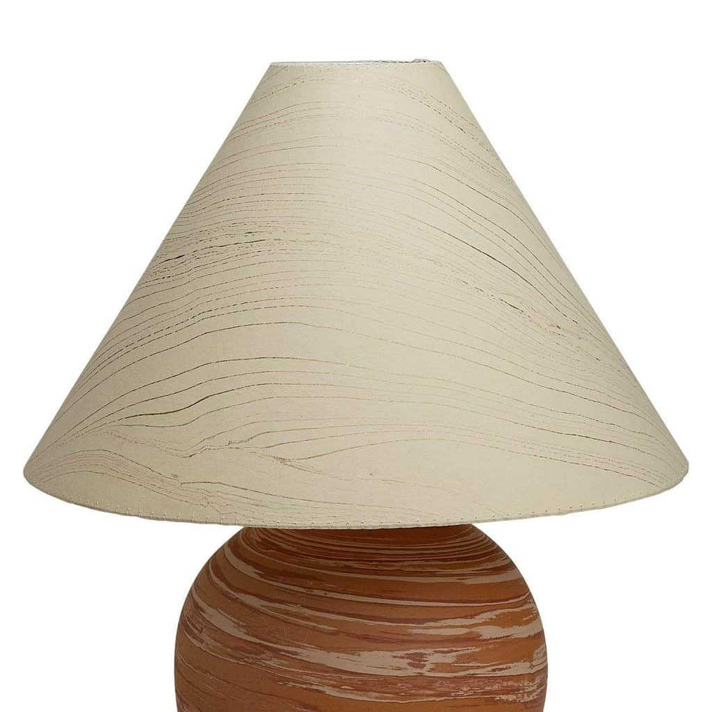Ten Thousand Villages Marbleized Paper Lampshade 'Sand Swept Lampshade'