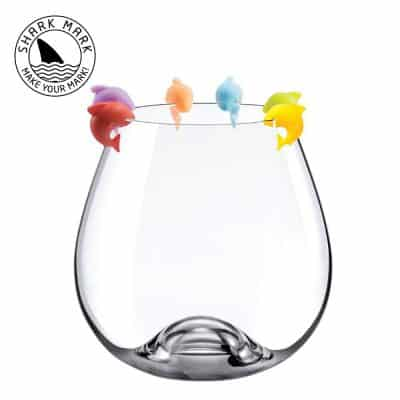 The ORIGINAL Shark Mark Silicone Drink Markers Wine Glass Charms