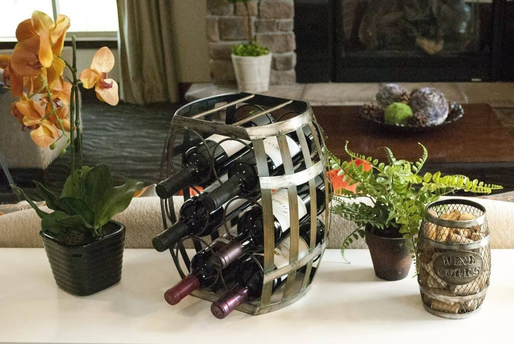 TheopWine Barrel Shaped 6 Bottle Wine Rack