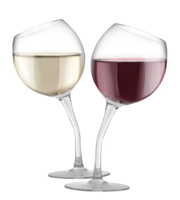 Tilted Wine Glass Set