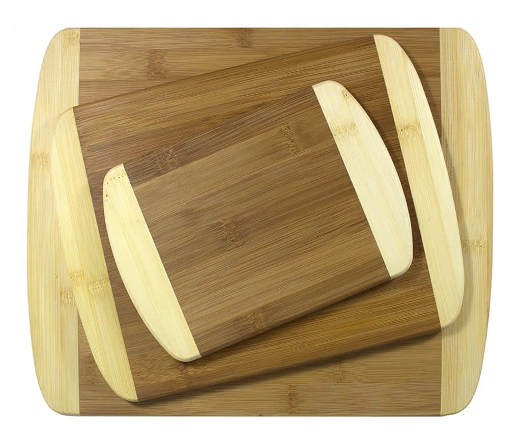 Totally Bamboo 3 Piece 2-Tone Bamboo Board Set