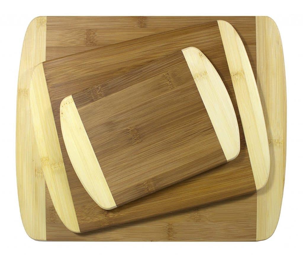 Totally Bamboo 3 Piece 2-Tone Bamboo Board Set