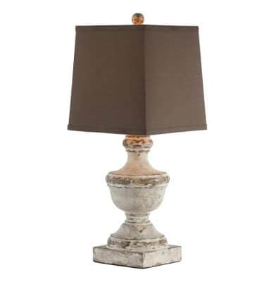 Truro Square Linen Shade Petite French Country Lamp