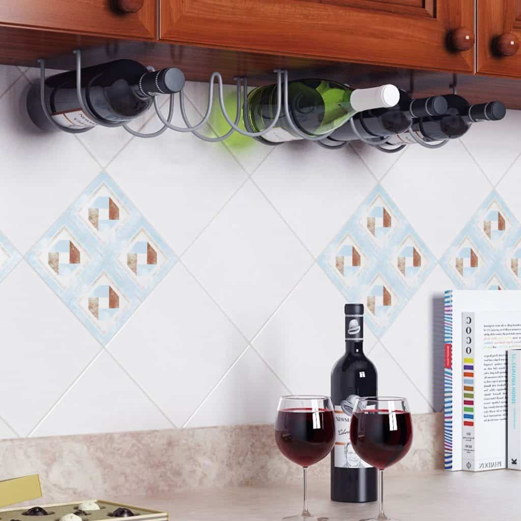 Under Cabinet 3 Wine Bottle Rack