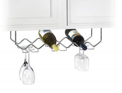 Under Cabinet Stemware Holder and Wine Rack