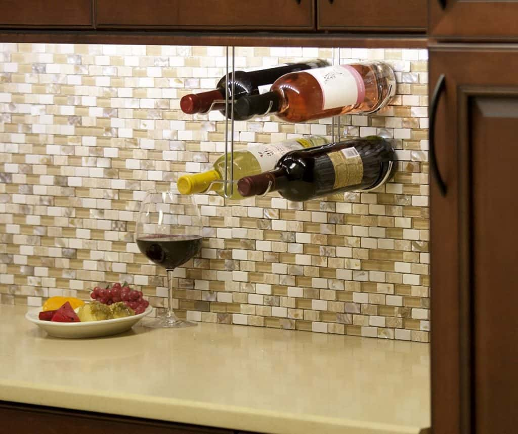 creative wine racks and wine storage ideas ultimate guide - under cabinet wine rack