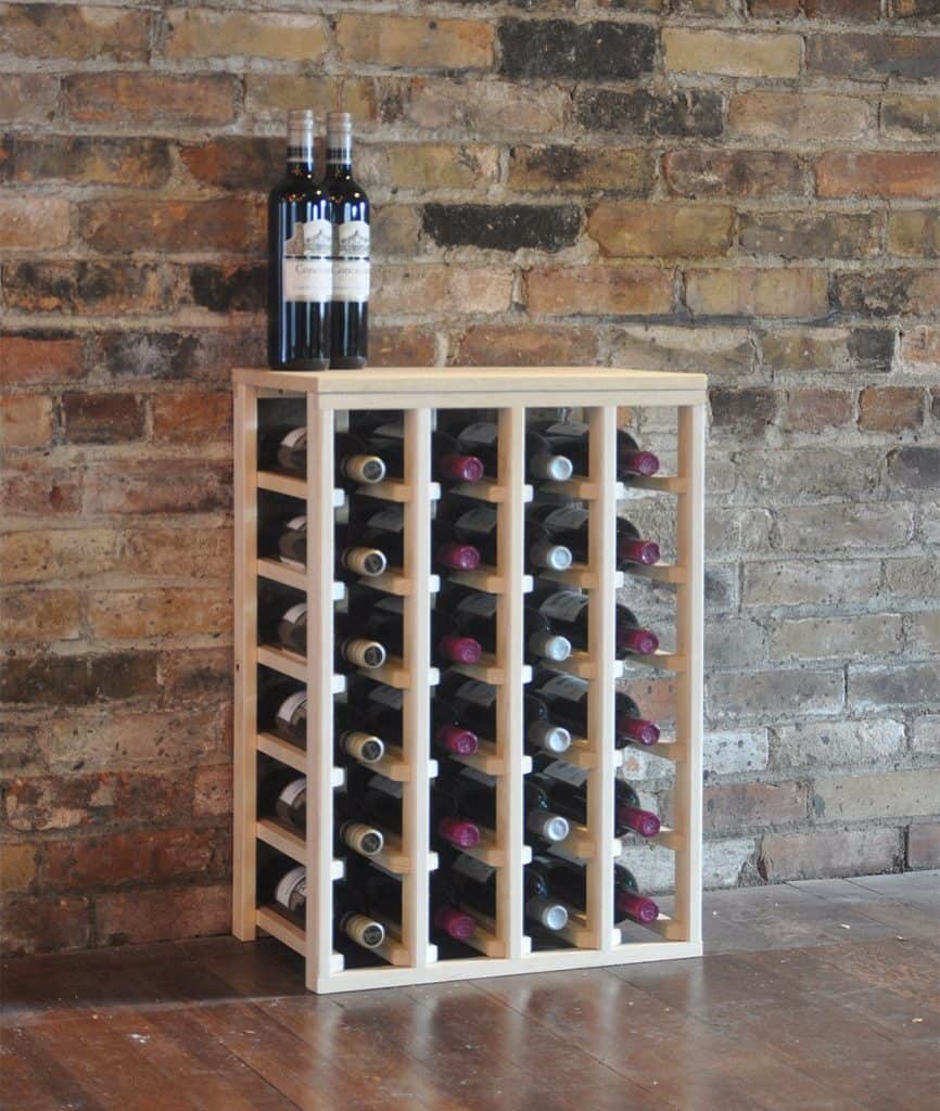 vinogrotto 24 bottle table wine rack - Wine Rack Table