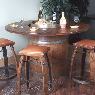 wood barrel furniture. Vintage Oak Full Wine Barrel Bistro Table Wood Furniture S