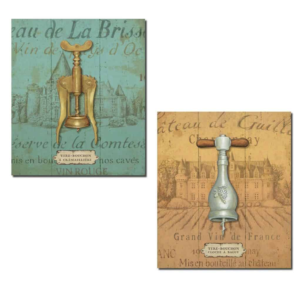 Vintage-Style Wine Cork Screw Bottle Openers Set by Daphne Brissonnet