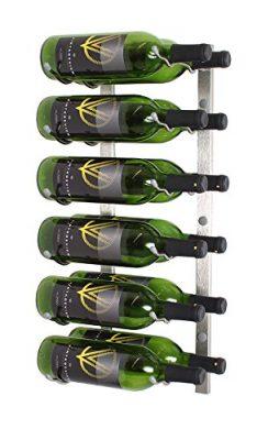 VintageView WS22 2-Foot 12 Bottle Wall Mounted Wine Rack in Brushed Nickel