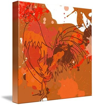 Wall Art Print entitled ORL-752 RED Rooster by Irena Orlov