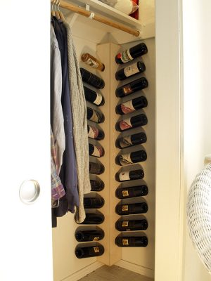 Wall Mounted Wine Rack for Corners