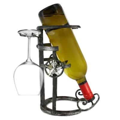 Western Moments Horseshoe Wine Rack & Stemware Holder