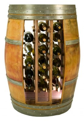Whole Barrel Wine Rack Holds 28 Bottles
