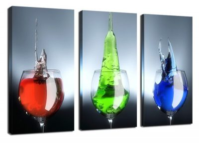 Wind Colorful Liquor In Goblet Picture Giclee Wine Glass