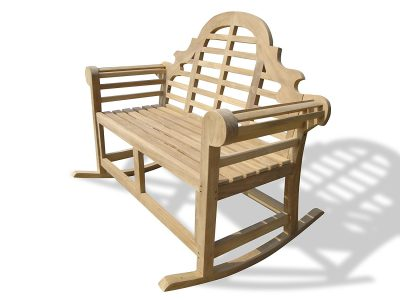 Windsor's Premium Grade A Plantation Teak Lutyens Double Rocking ChairBench