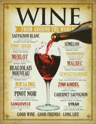Wine Around the World Tin Sign