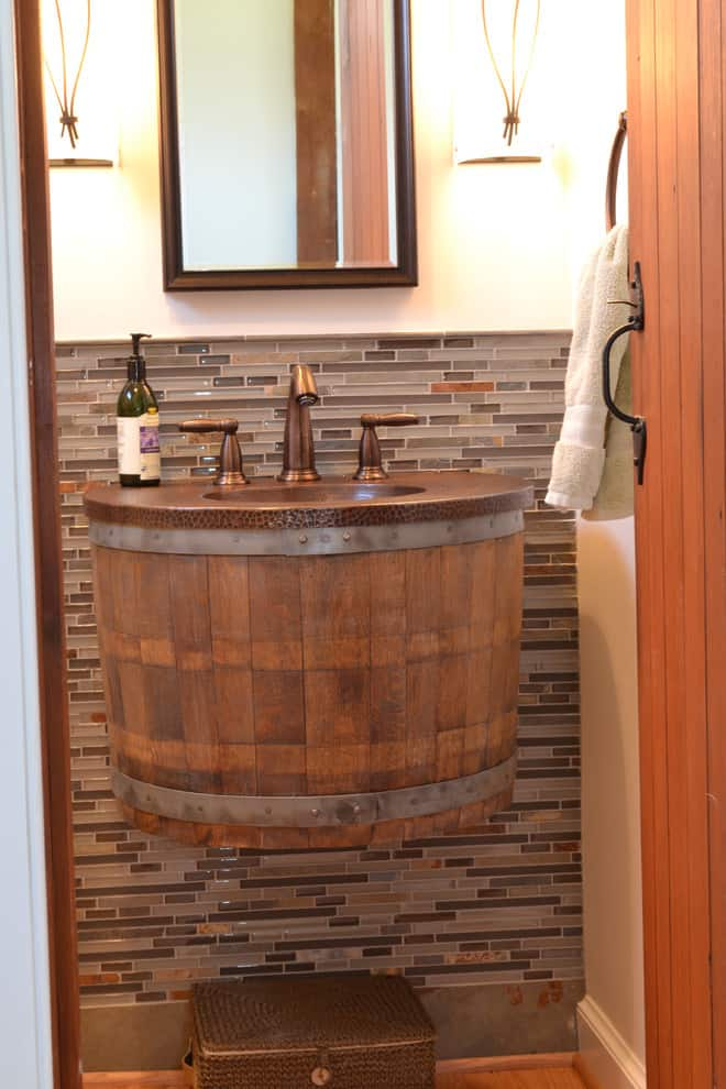 Wine Barrel Bathroom Sink