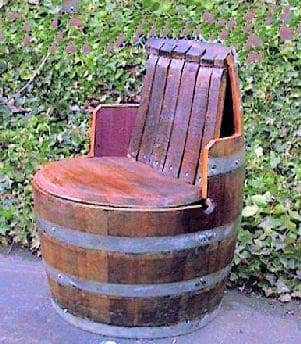 Wine Barrel Chair with Arm and Back Rest