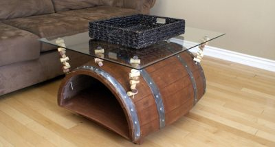 wood barrel furniture. Wine Barrel Coffee Table Wood Furniture