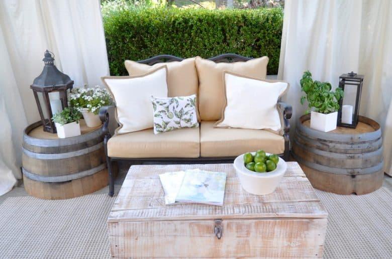 Wine Barrel Furniture Ideas