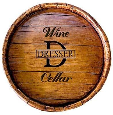 Wine Barrel Personalized Wine Cellar Sign