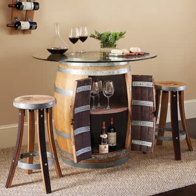 Wine Barrel Pub Table