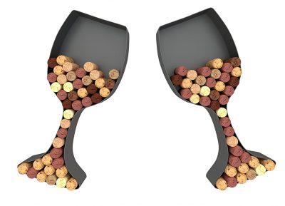 Wine Glass Cork Holder Art Wall Décor