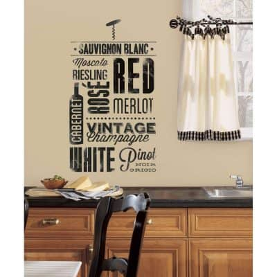 Wine Lovers Peel and Stick Wall Decals